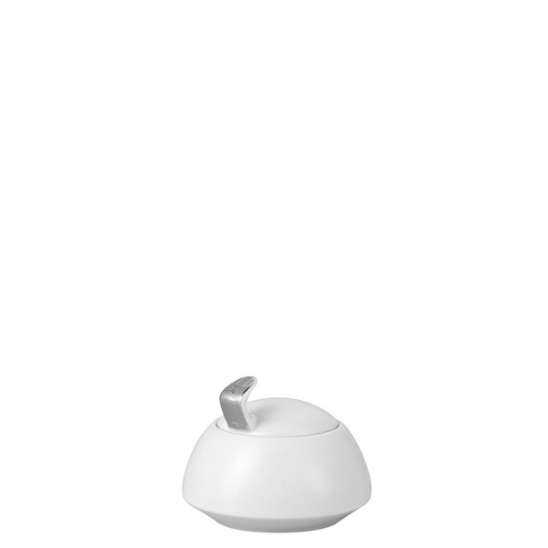 Sugar Bowl, Covered, 7 ounce | Rosenthal TAC 02 Skin Platinum