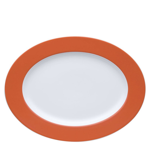 Oval Serving Platter, 13 inch   Thomas Sunny Day Tangerine