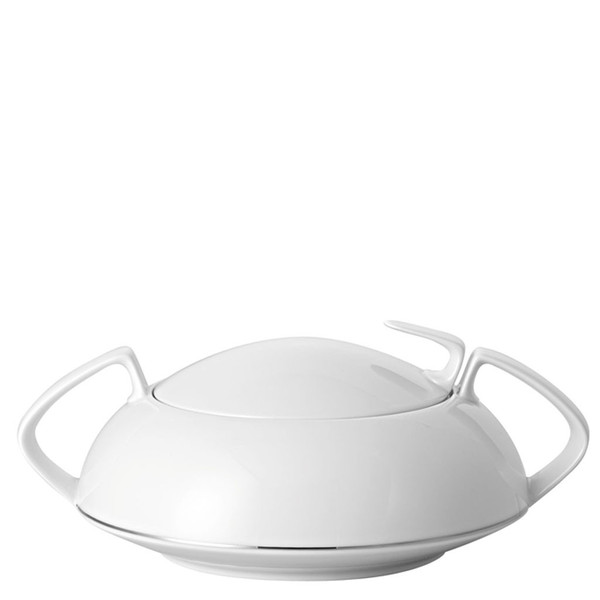 Vegetable Bowl, Covered, 54 ounce | Rosenthal TAC 02 Platinum