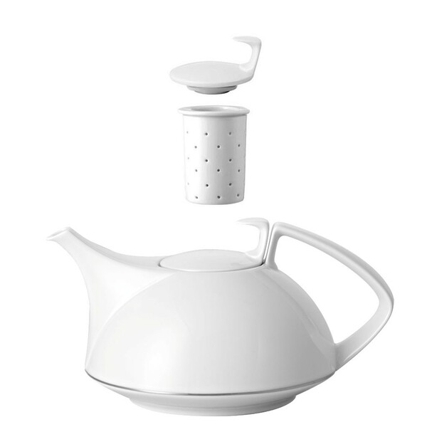 Tea Pot, 4-pc Set, 45 ounce | Rosenthal TAC 02 Platinum