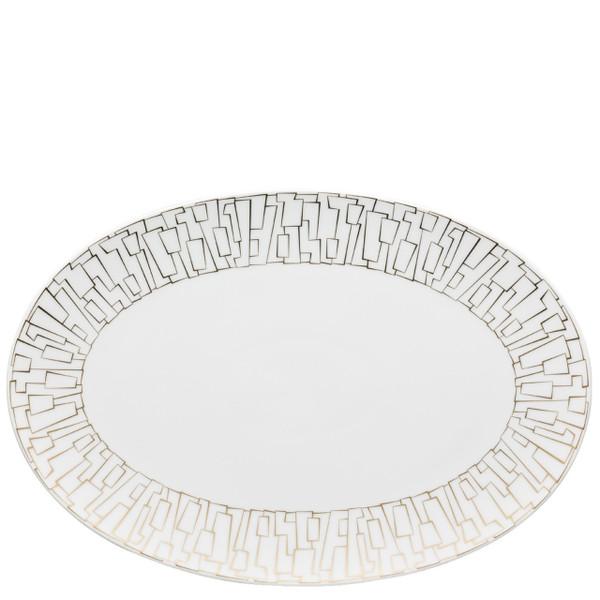 Platter, 13 1/2 inch | Rosenthal TAC 02 Skin Gold