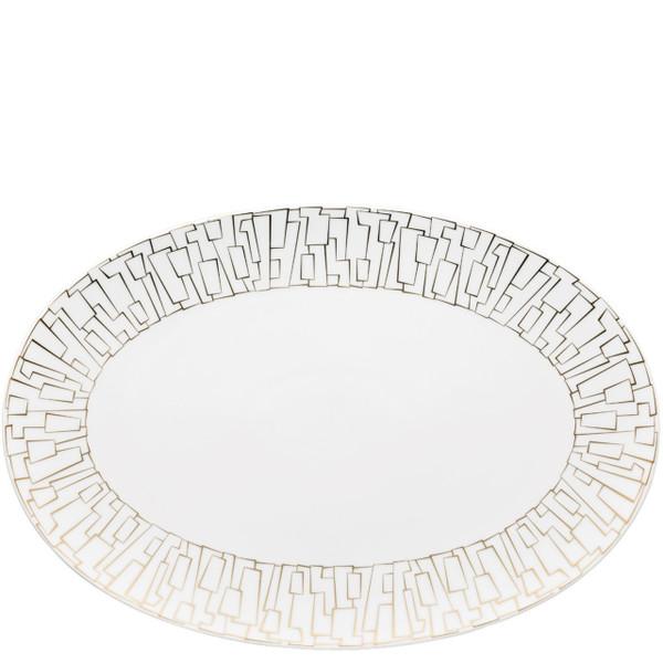 Platter, 15 inch | Rosenthal TAC 02 Skin Gold