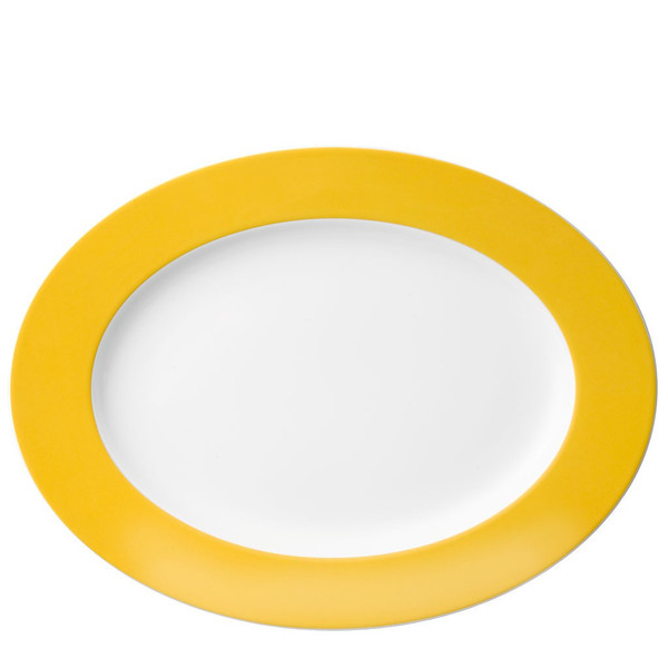 Oval Serving Platter, 13 inch | Thomas Sunny Day Sunflower Yellow