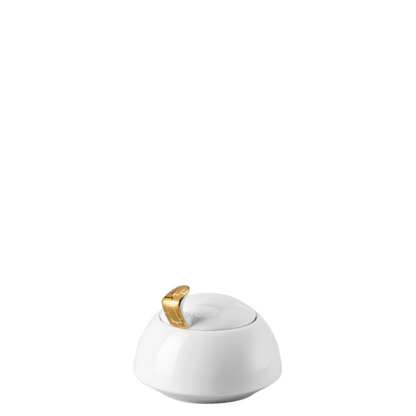 Sugar Bowl, Covered, 7 ounce | Rosenthal TAC 02 Skin Gold