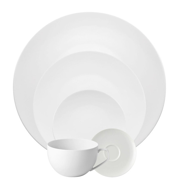 5 Piece Place Setting (5 pps)   TAC 02 White