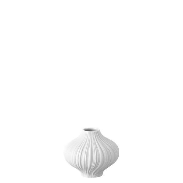 Plissee White matt Mini Vase, 3 inch | Rosenthal Mini Vase