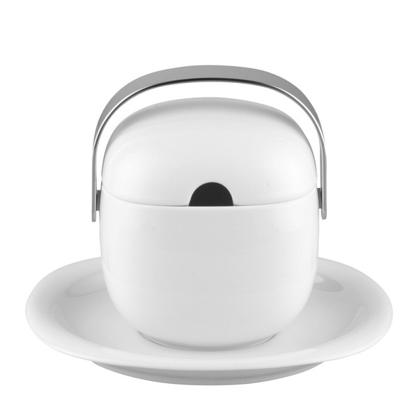 Sauce Boat, Covered, 17 ounce | Rosenthal Suomi White