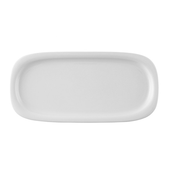Platter, rectangular, 14 x 6 3/4 inch | Rosenthal Suomi White