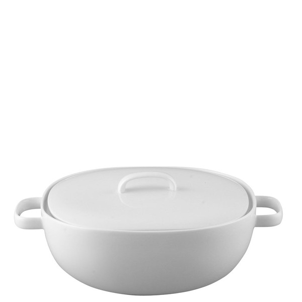 Vegetable Bowl, Covered, 68 ounce | Rosenthal Moon White