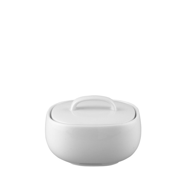 Sugar Bowl, Covered, 9 ounce | Rosenthal Moon White
