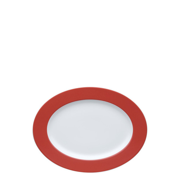 Oval Serving Platter, 13 inch | Thomas Sunny Day Red