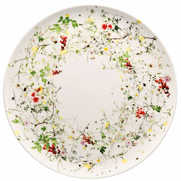 Service Plate, coupe, 12 1/2 inch | Rosenthal Brillance Fleurs Sauvages