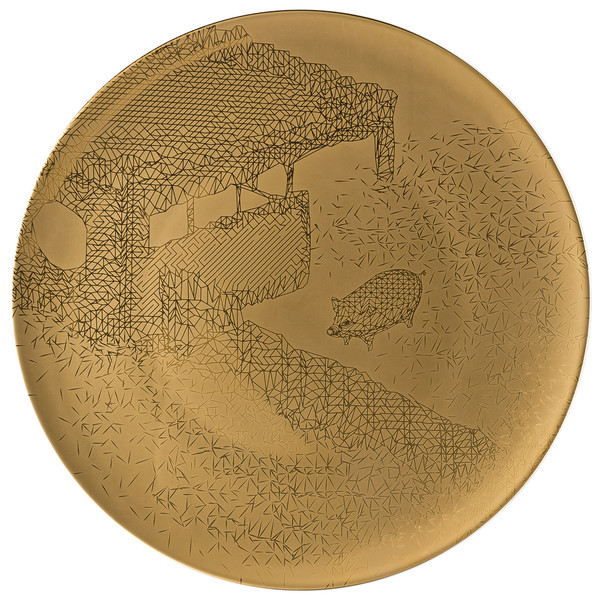 Service Plate, 13 inch | Rosenthal TAC Palazzo RORO Gold