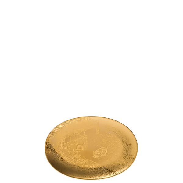 Platter, 7 1/4 inch   Rosenthal TAC Palazzo RORO Gold
