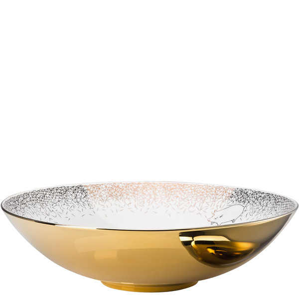 Vegetable Bowl, open, 13 3/4 inch, 135 ounce | Rosenthal TAC Palazzo RORO Gold