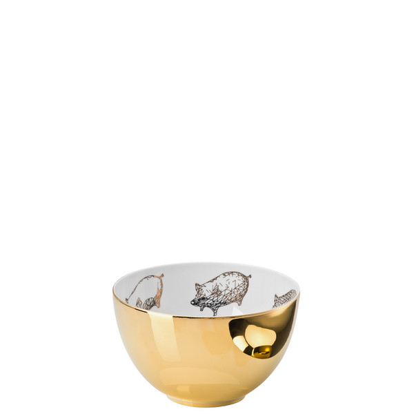 Cereal Bowl, 6 inch, 28 ounce | Rosenthal TAC Palazzo RORO Gold