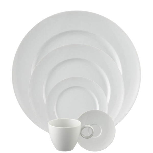 5 Piece Place Setting, Round (5 pps) | Vario White