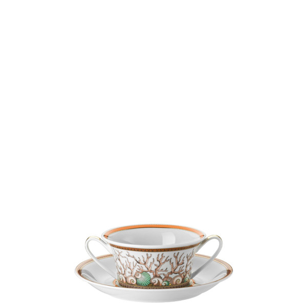 Cream Soup Cup & Saucer, 6 3/4 inch, 10 ounce | Etoiles de la Mer