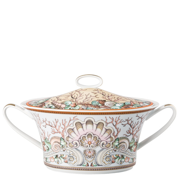 write a review for Vegetable Bowl, covered, 54 ounce | Versace Etoiles de la Mer
