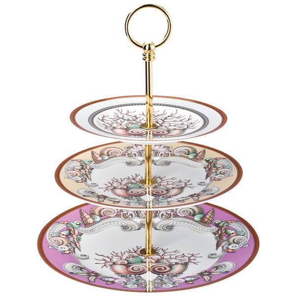 Etagere, 3 tiers, 7 x 8 1/2 x 10 1/2 inch | Versace Etoiles de la Mer