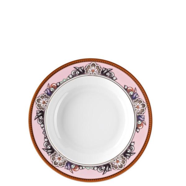 Pink Rim Soup Plate, 8 1/2 inch | Versace Etoiles de la Mer