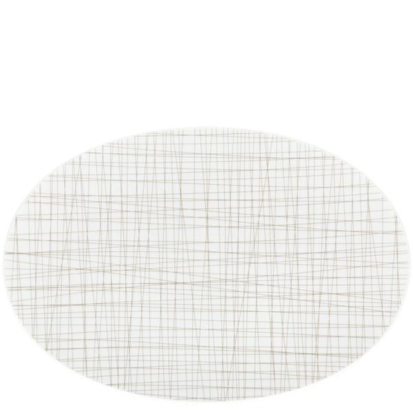 Oval Platter, 13 1/2 inch | Rosenthal Mesh Lines Walnut