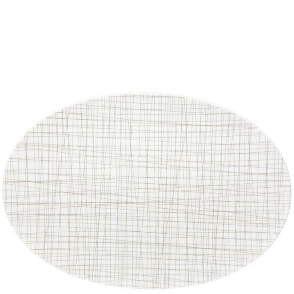 Oval Platter, 15 inch | Rosenthal Mesh Lines Walnut