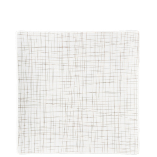 Plate Square, 10 1/2 inch | Rosenthal Mesh Lines Walnut