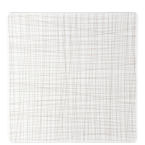 Plate Square, 12 1/4 inch | Rosenthal Mesh Lines Walnut