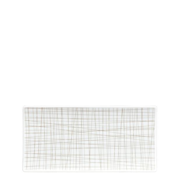 Rectangular Platter, 10 1/4 x 5 inch | Rosenthal Mesh Lines Walnut