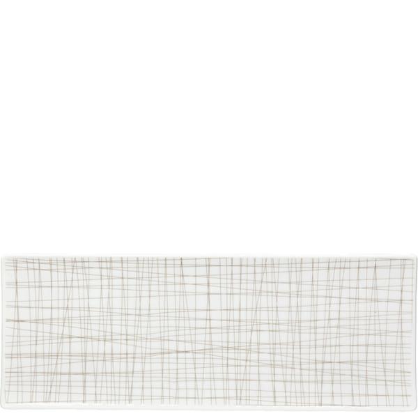Rectangular Platter, 13 1/2 x 5 inch | Rosenthal Mesh Lines Walnut
