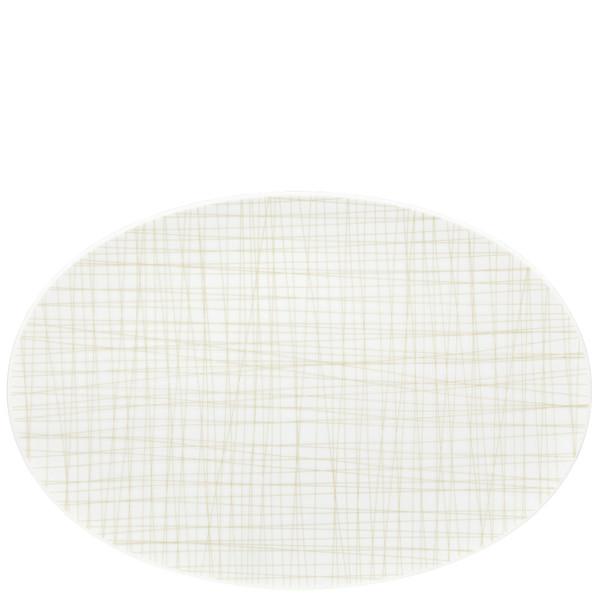 Oval Platter, 13 1/2 inch | Rosenthal Mesh Lines Cream
