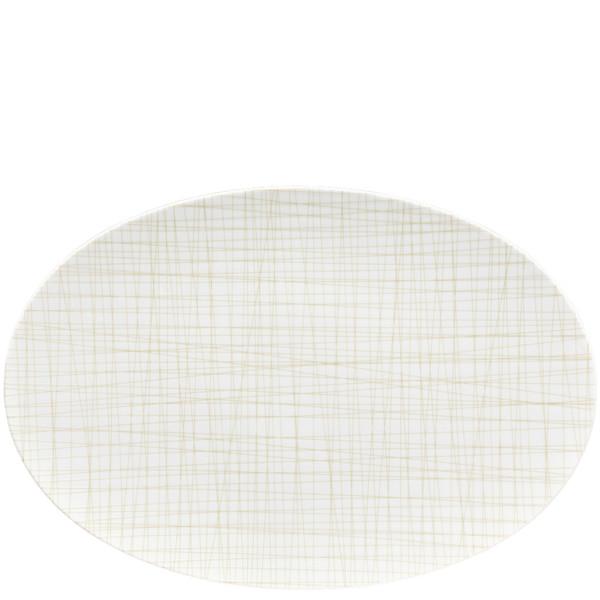Oval Platter, 15 inch | Rosenthal Mesh Lines Cream