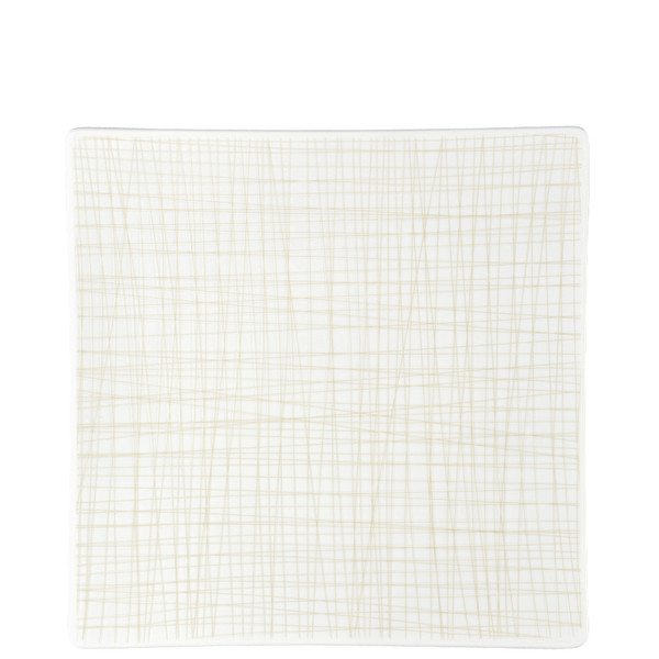 Plate Square, 10 1/2 inch | Rosenthal Mesh Lines Cream