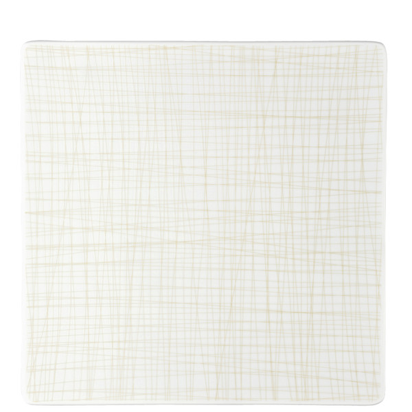 Plate Square, 12 1/4 inch | Rosenthal Mesh Lines Cream