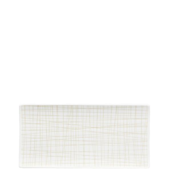 Rectangular Platter, 10 1/4 x 5 inch | Rosenthal Mesh Lines Cream