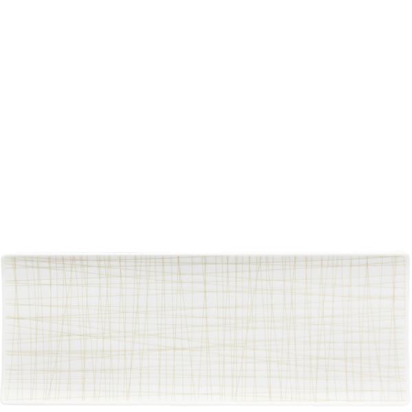 Rectangular Platter, 13 1/2 x 5 inch | Rosenthal Mesh Lines Cream