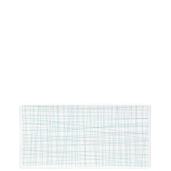 Rectangular Platter, 10 1/4 x 5 inch | Rosenthal Mesh Lines Aqua