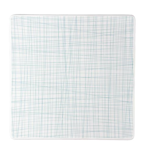 Plate Square, 12 1/4 inch | Rosenthal Mesh Lines Aqua