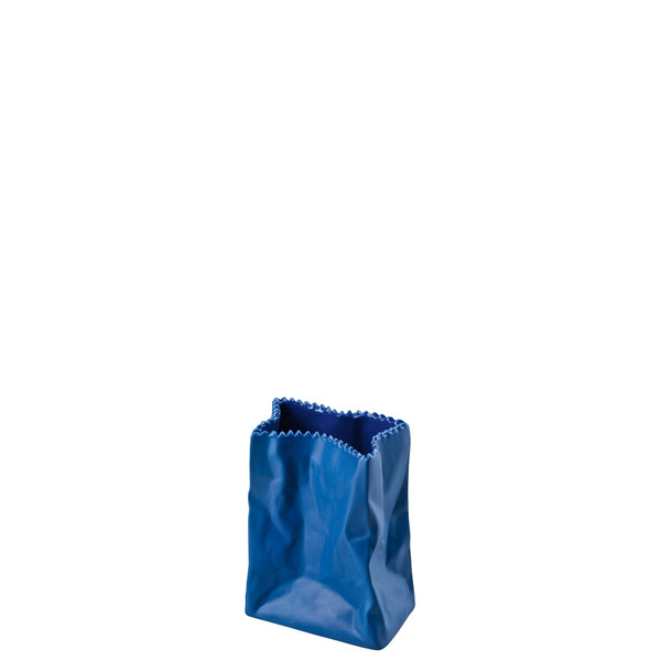 write a review for Vase, Deep Blue, 4 inch | Rosenthal Paper Bag Vase