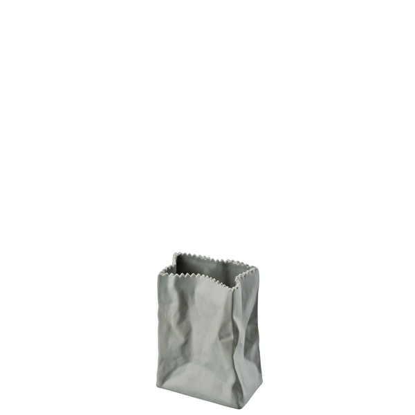 write a review for Vase, Stone, 4 inch | Rosenthal Paper Bag Vase