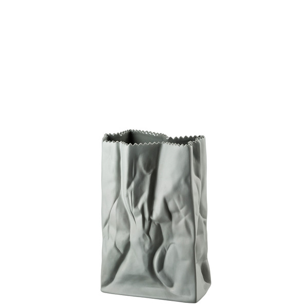write a review for Vase, Stone, 7 inch | Rosenthal Paper Bag Vase