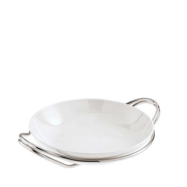 write a review for Rice Dish in Holder, Mirror finish, 14 1/4 inch | Sambonet New Living Mirror