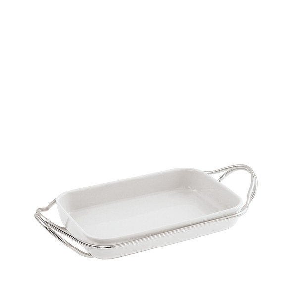write a review for Rectangular Dish in Holder, Mirror finish, 13 3/4 x 8 2/3 inch | Sambonet New Living Mirror