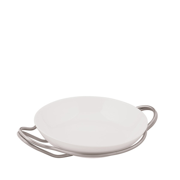 Rice Dish in Holder, Antico finish, 14 1/4 inch | Sambonet New Living Antico
