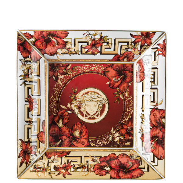 Tray, 11 inch | Versace Christmas Blooms
