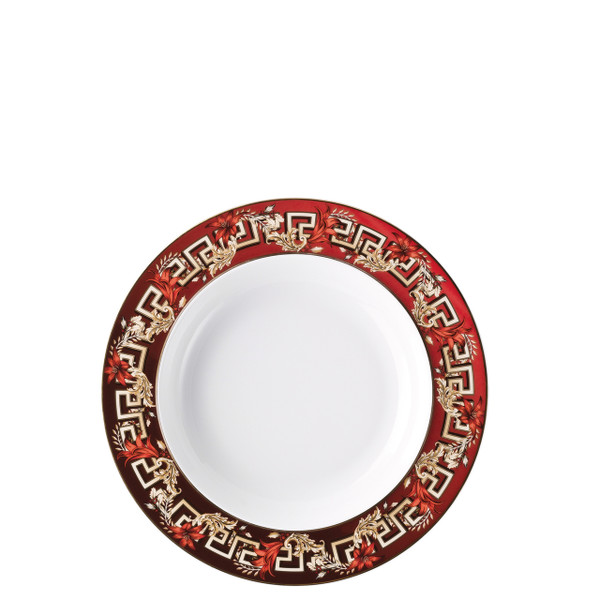 Rim Soup Plate, 8 1/2 inch | Versace Christmas Blooms