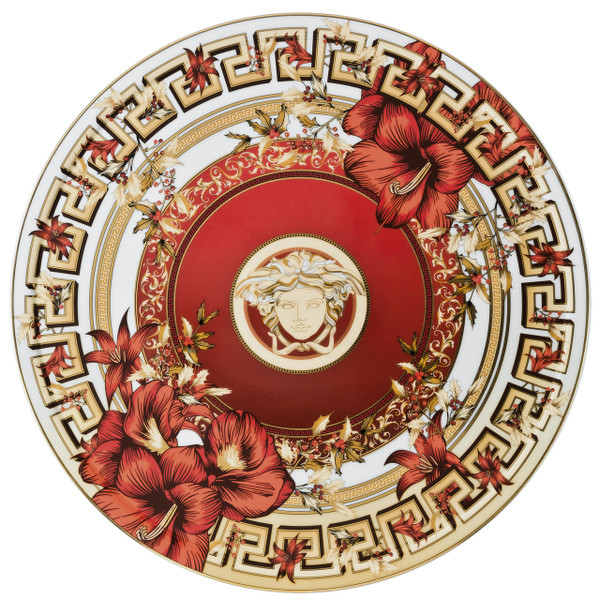 Tray - Tart Platter, 13 inch | Versace Christmas Blooms