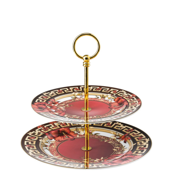 Etagere, 2 tiers, 8 1/2 x 10 1/2 inch | Versace Christmas Blooms