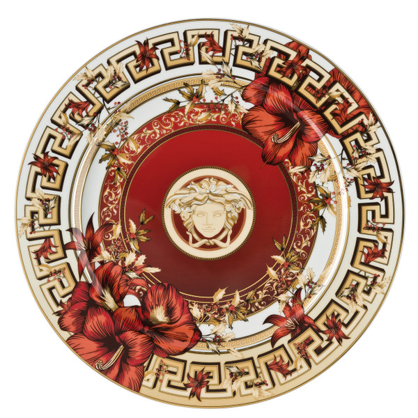Christmas Plate, 11 3/4 inch | Versace Christmas Blooms